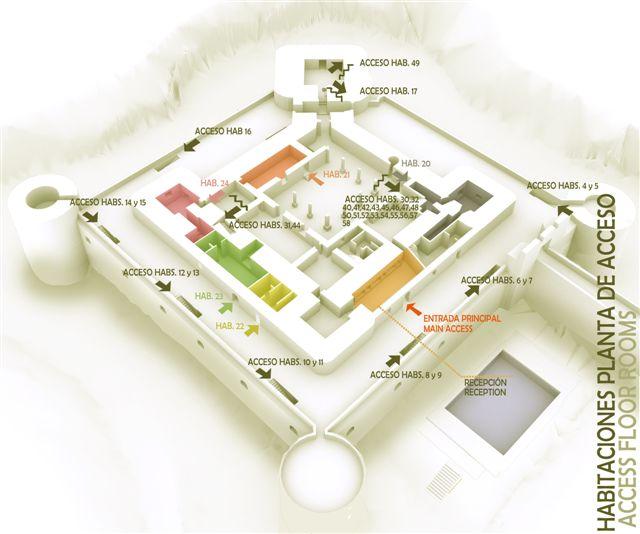 3D habitaciones planta de acceso