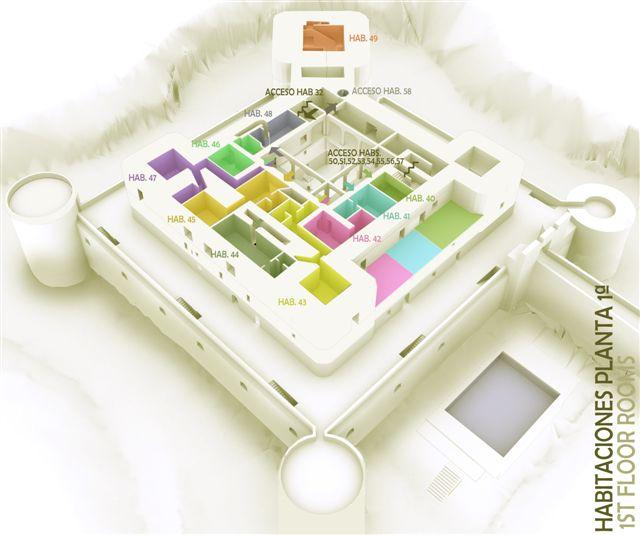 3D habitaciones planta 1