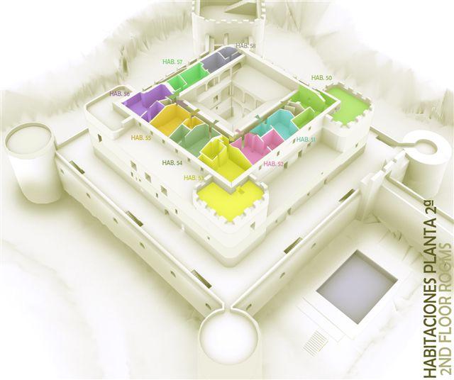 3D habitaciones planta 2